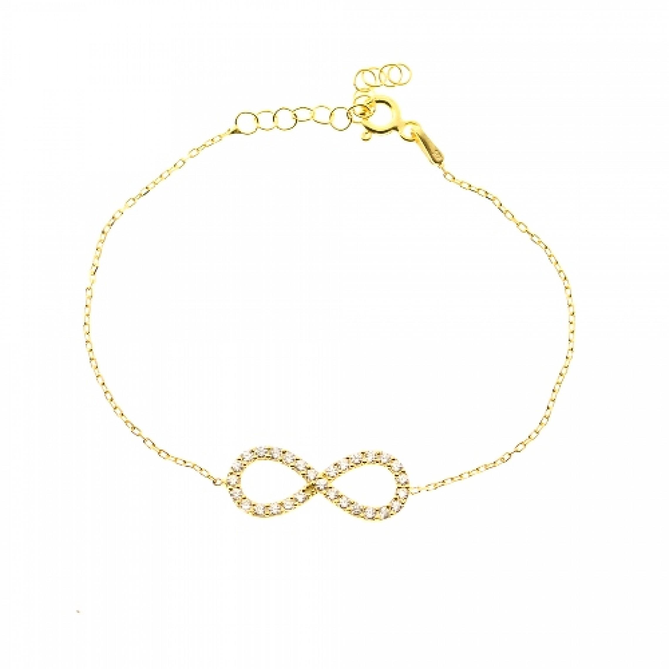JB-180015 Evil Eye 925 Sterling Silver CZ Bracelet Infinity