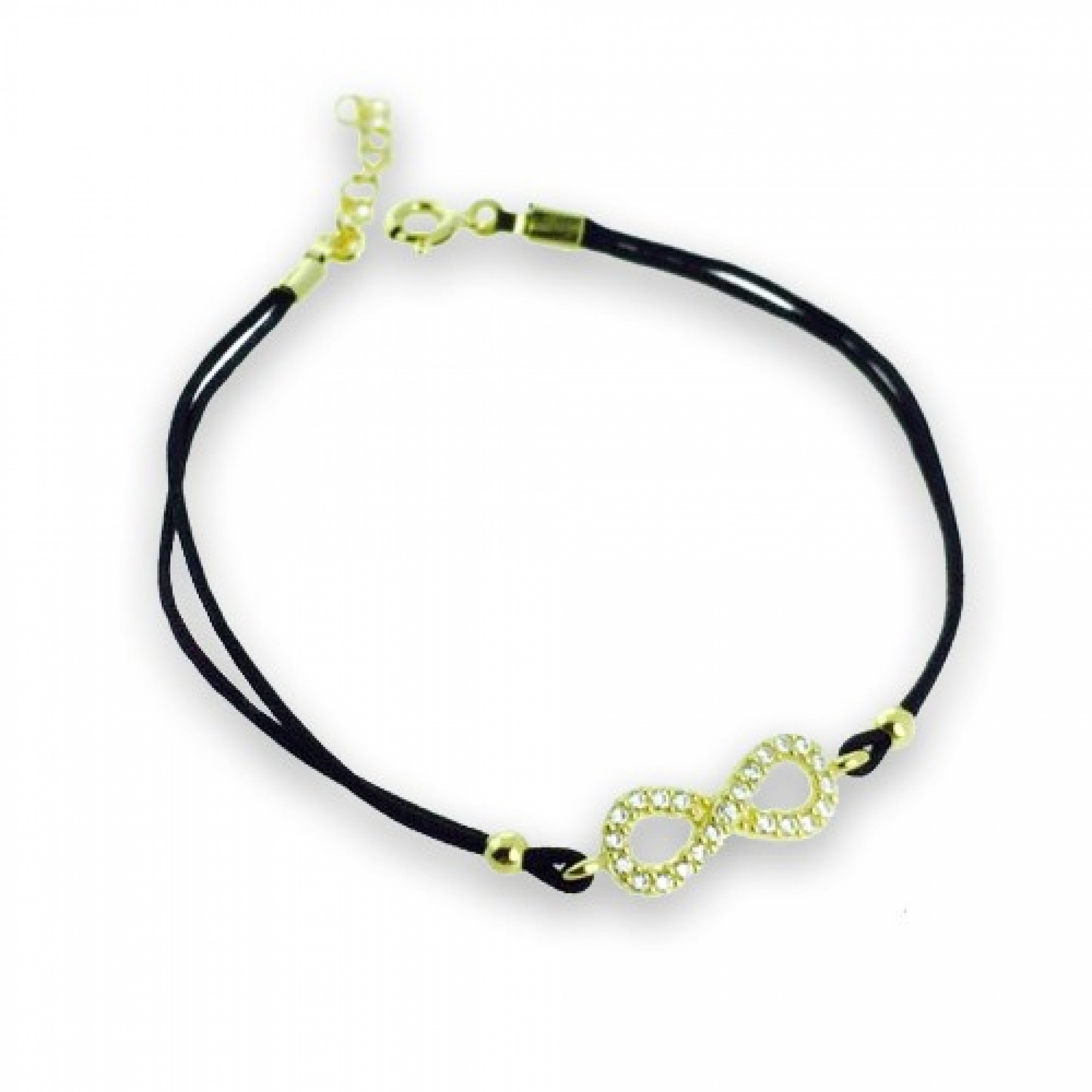 JB-180039 Evil Eye 925 Sterling Silver CZ Bracelet Infinity