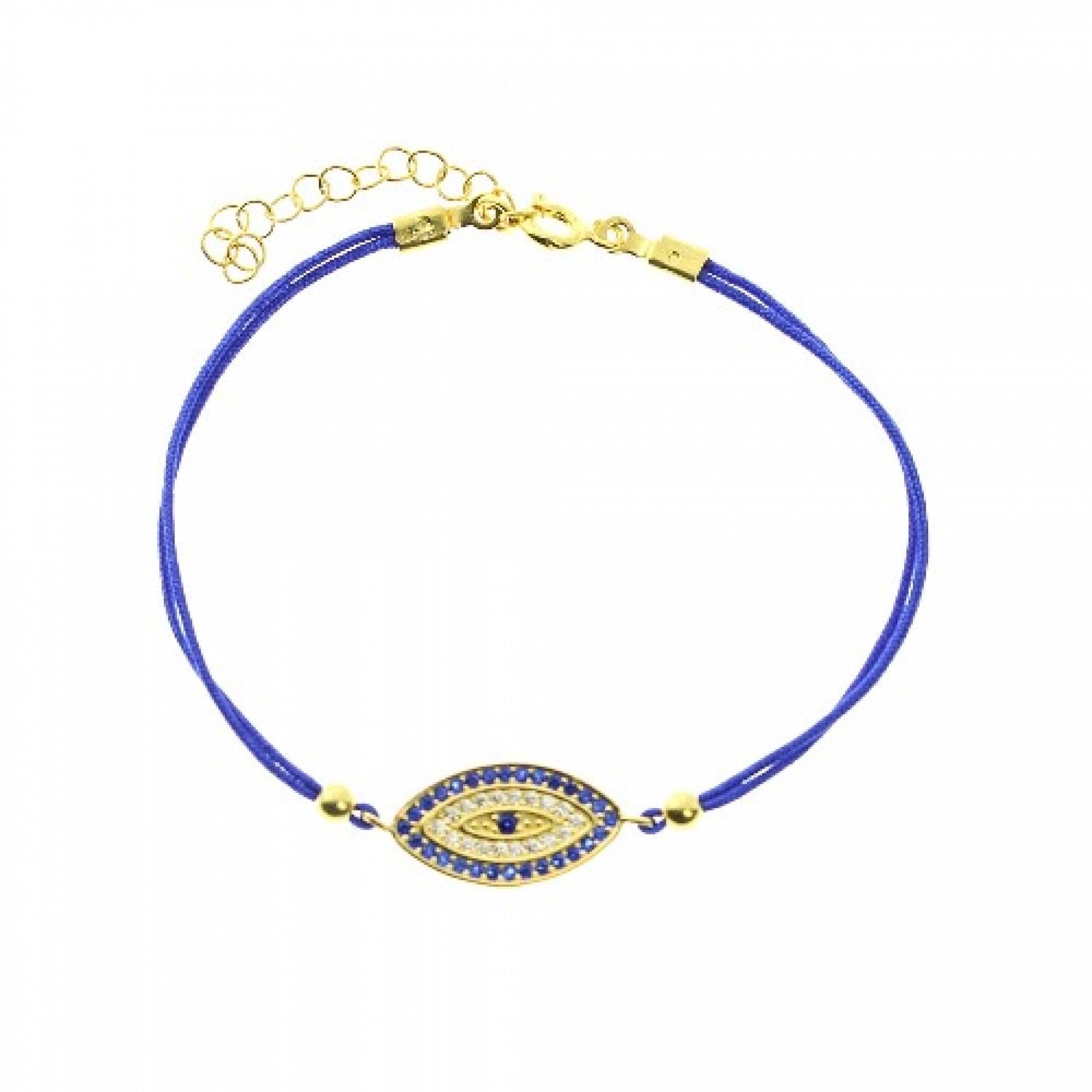 JB-180042 Evil Eye 925 Sterling Silver CZ Bracelet Evil Eyes