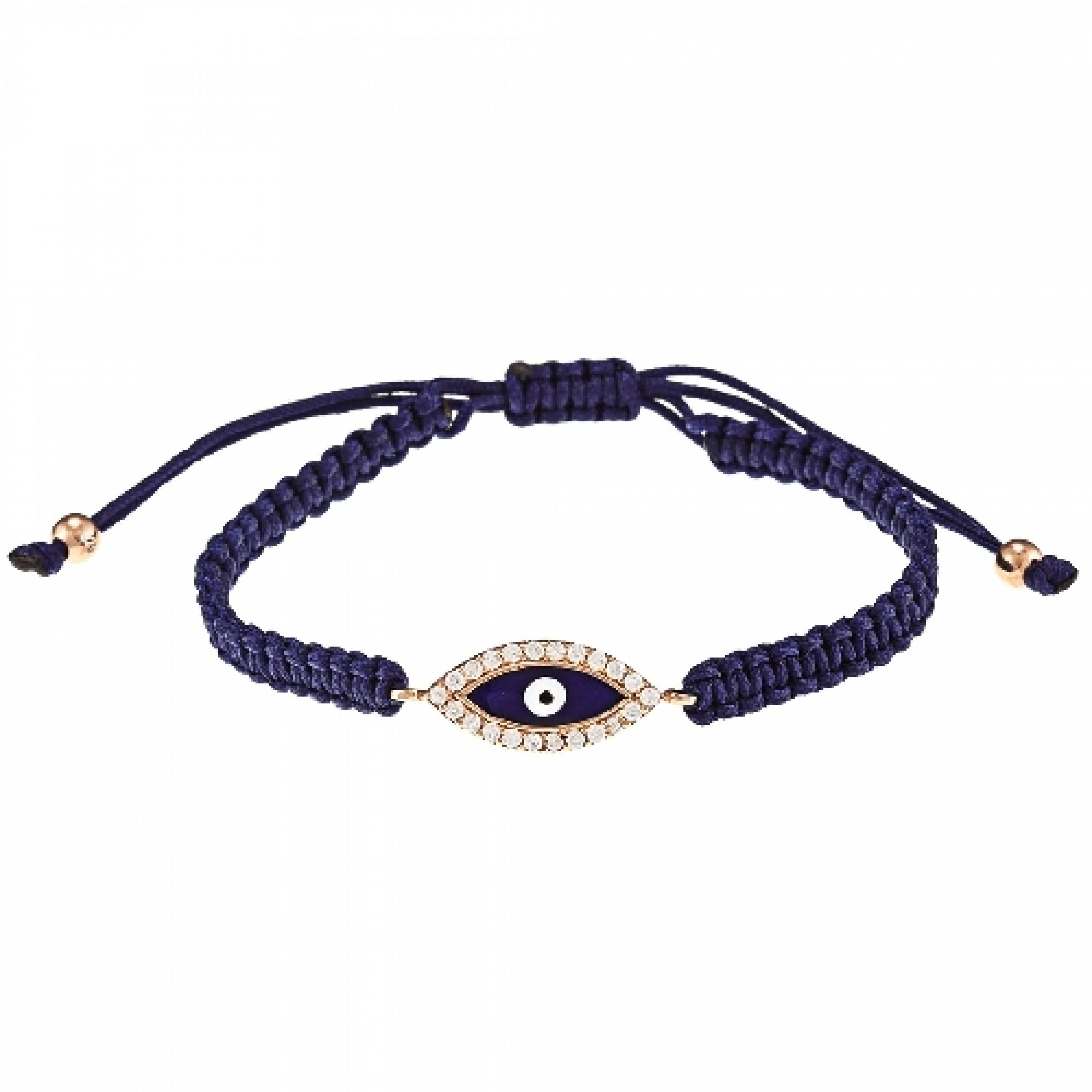 JB-180071 Evil Eye 925 Sterling Silver CZ Bracelet Evil Eyes