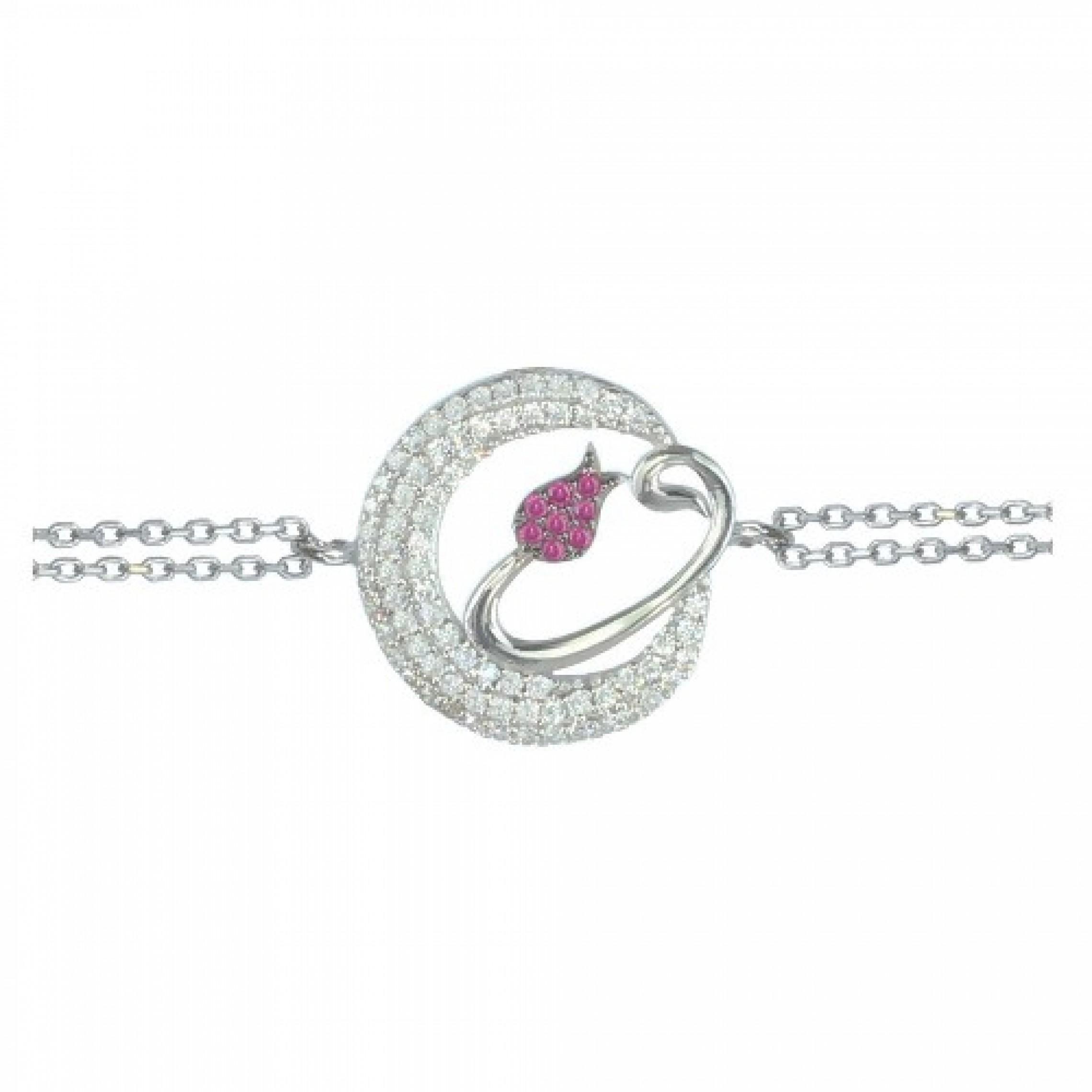 SB-13 Evil Eye 925 Sterling Silver CZ Bracelet