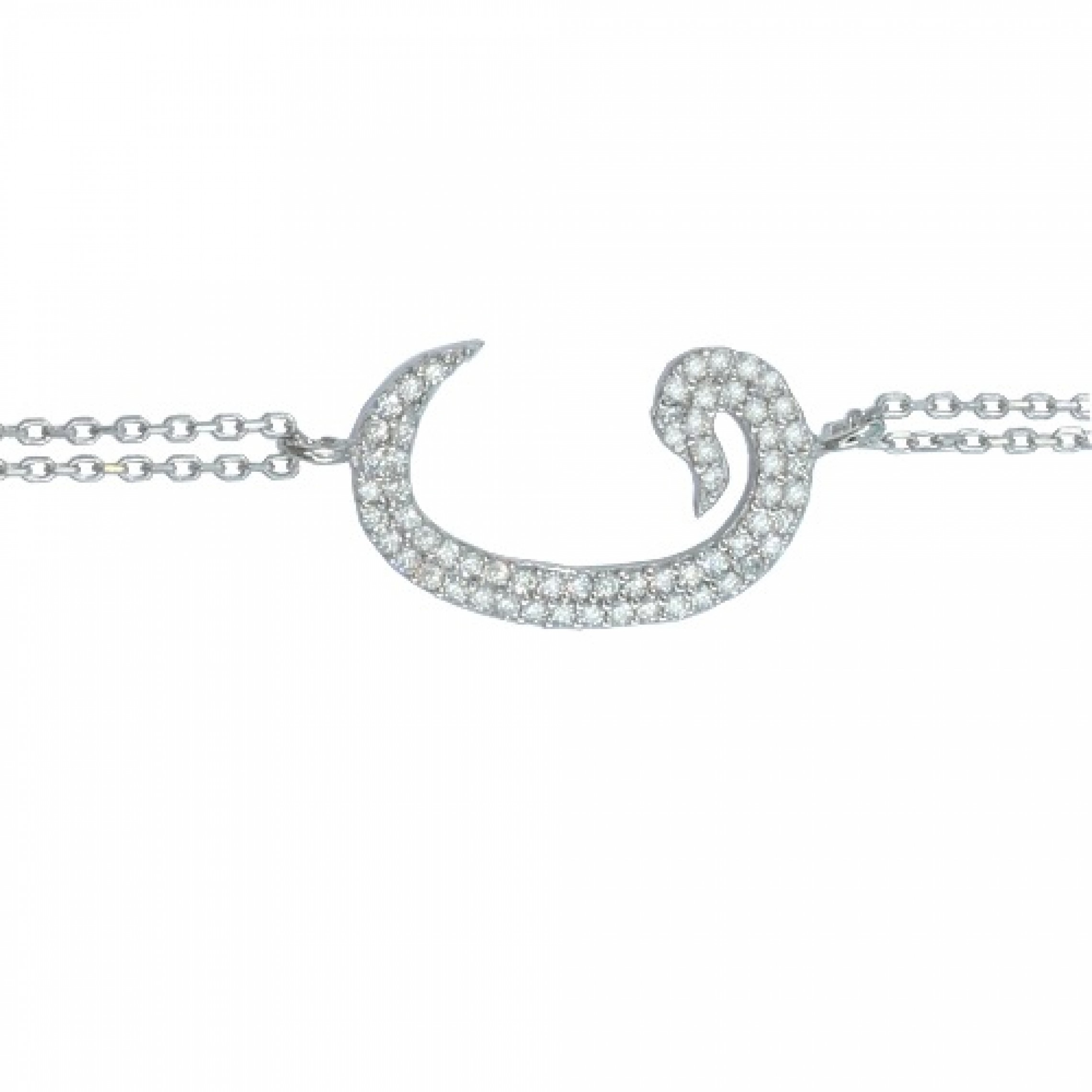 SB-164 Evil Eye 925 Sterling Silver CZ Bracelet