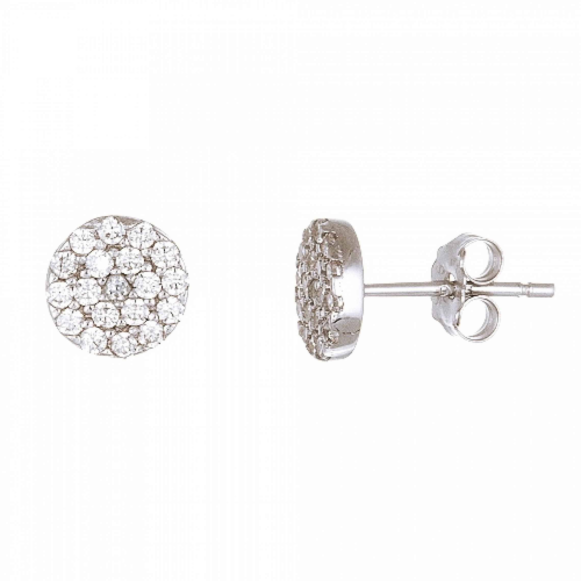 JE-210001 Evil Eye 925 Sterling Silver CZ Earrings