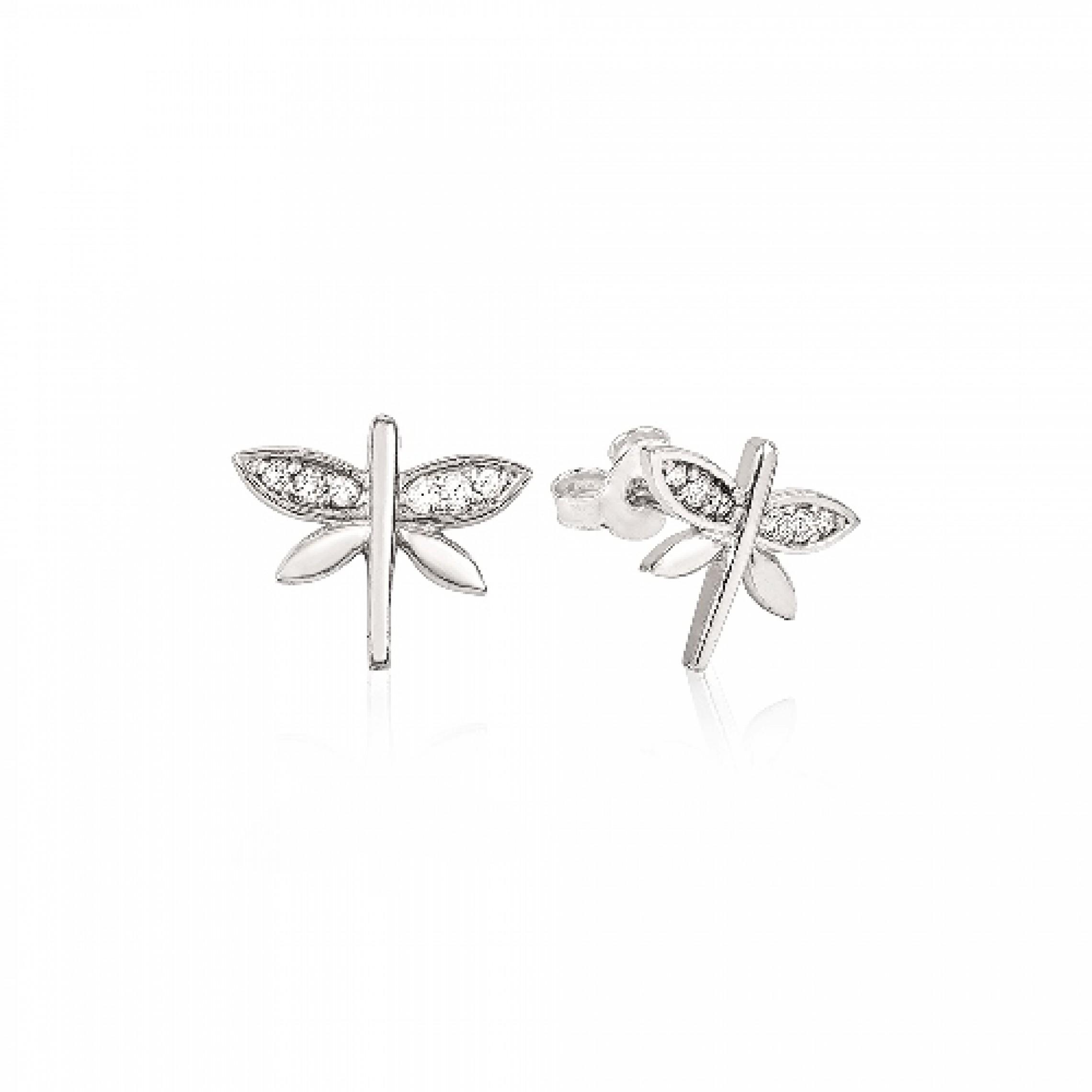 JE-210041 Evil Eye 925 Sterling Silver CZ Earrings