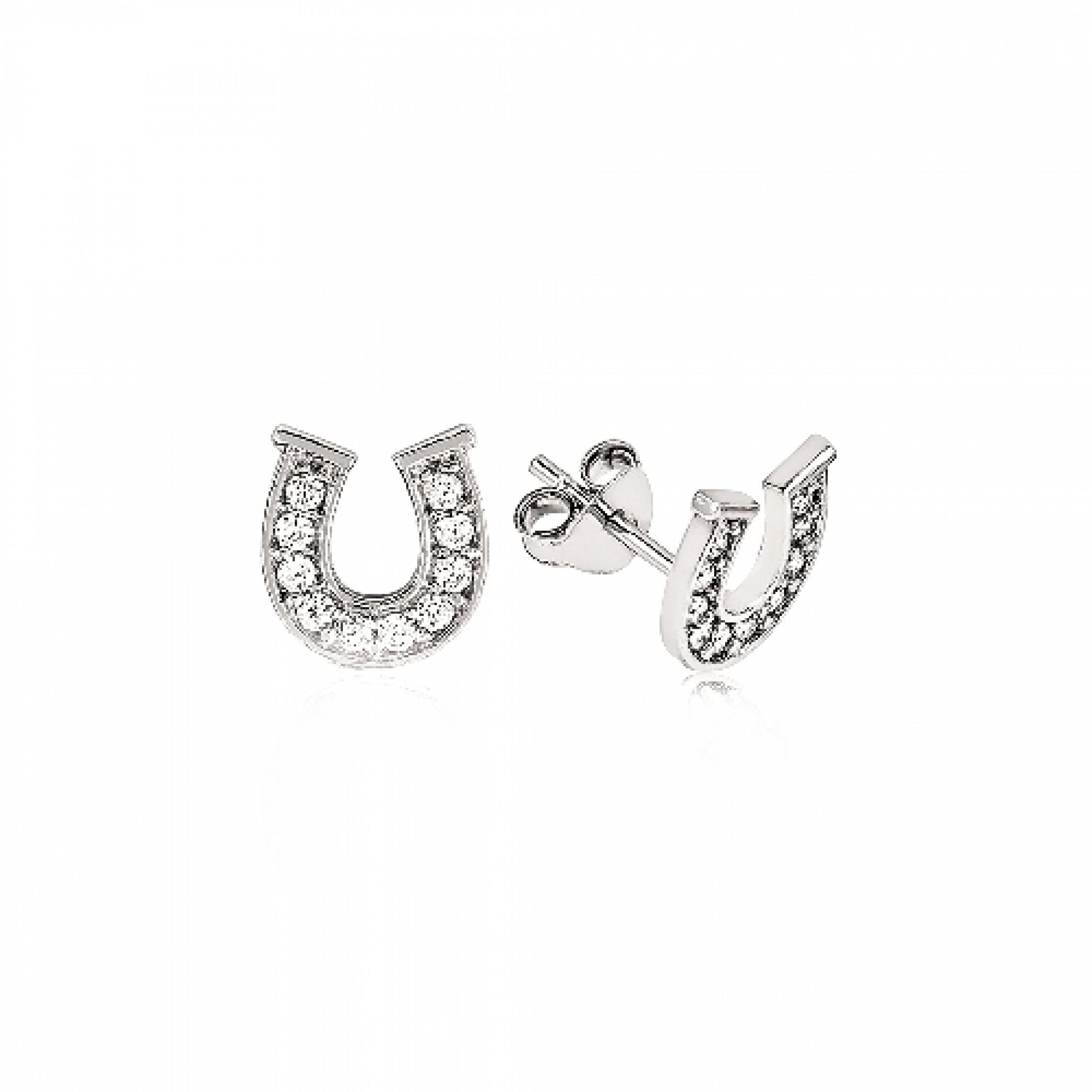 JE-210042 Evil Eye 925 Sterling Silver CZ Earrings