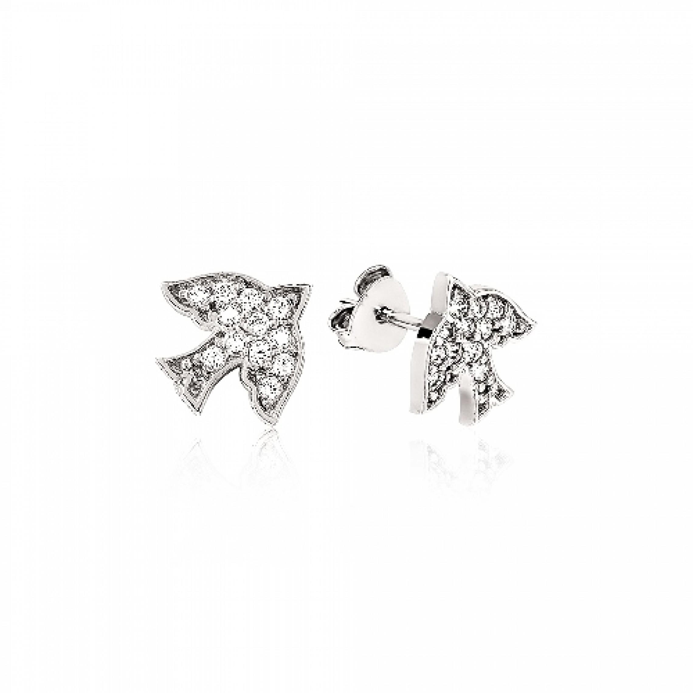 JE-210045 Evil Eye 925 Sterling Silver CZ Earrings