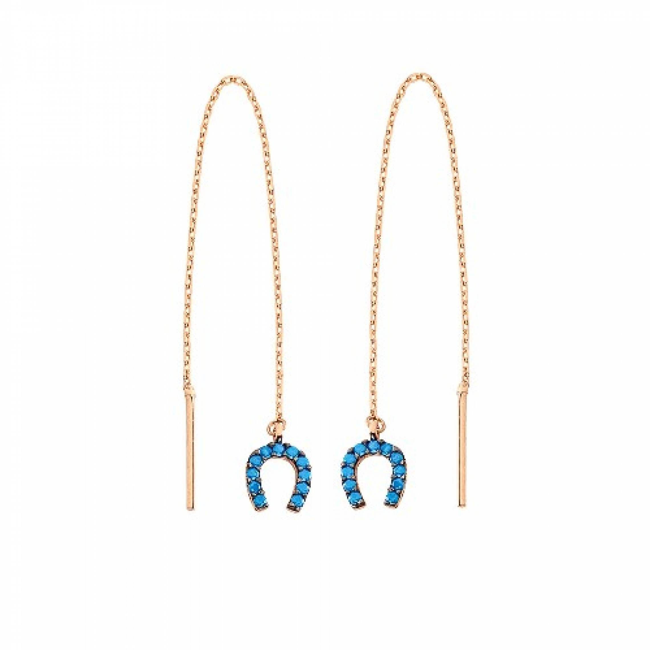 JE-210050 Evil Eye 925 Sterling Silver CZ Earrings