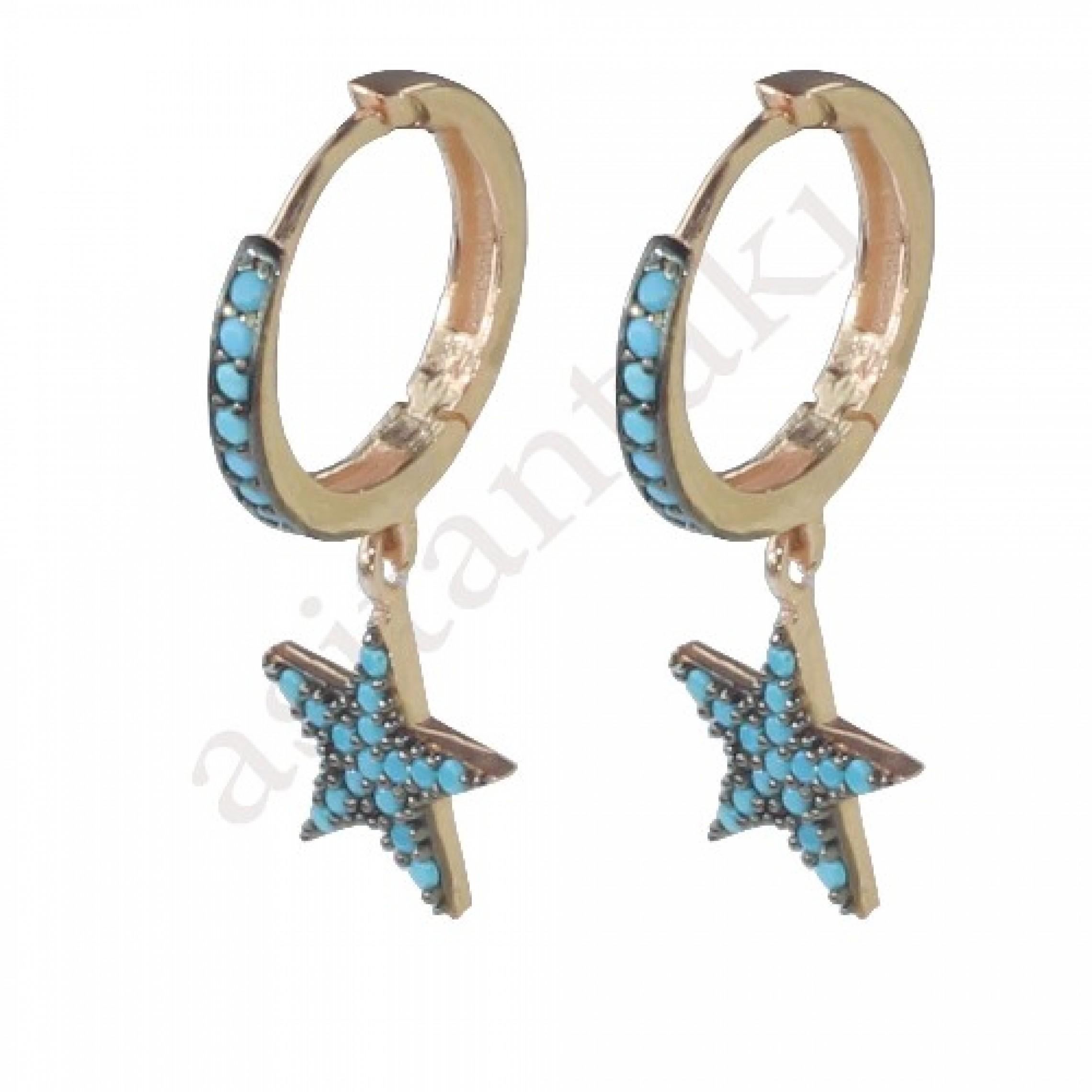 SE-48 Evil Eye 925 Sterling Silver CZ Earrings
