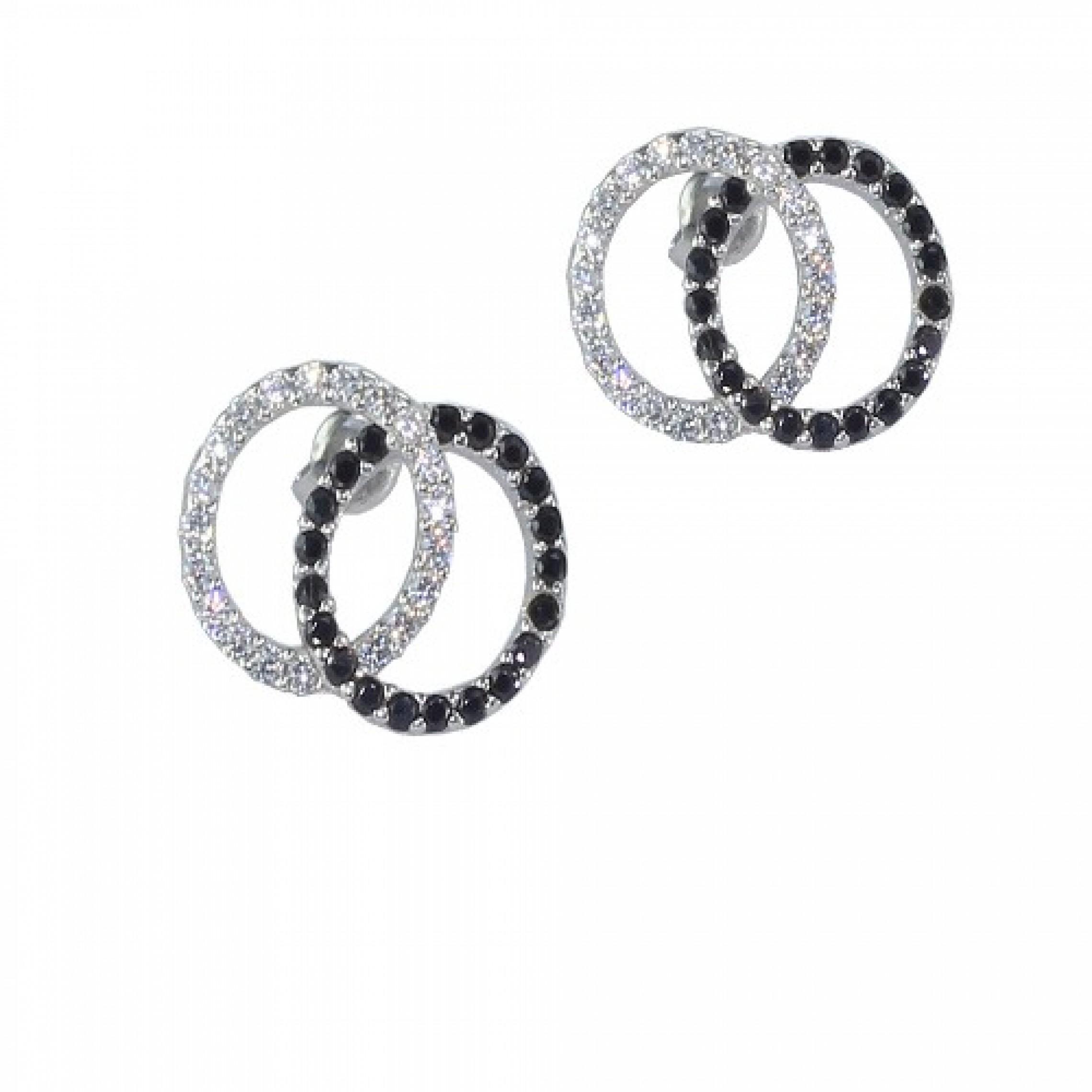 SE-87 Evil Eye 925 Sterling Silver CZ Earrings