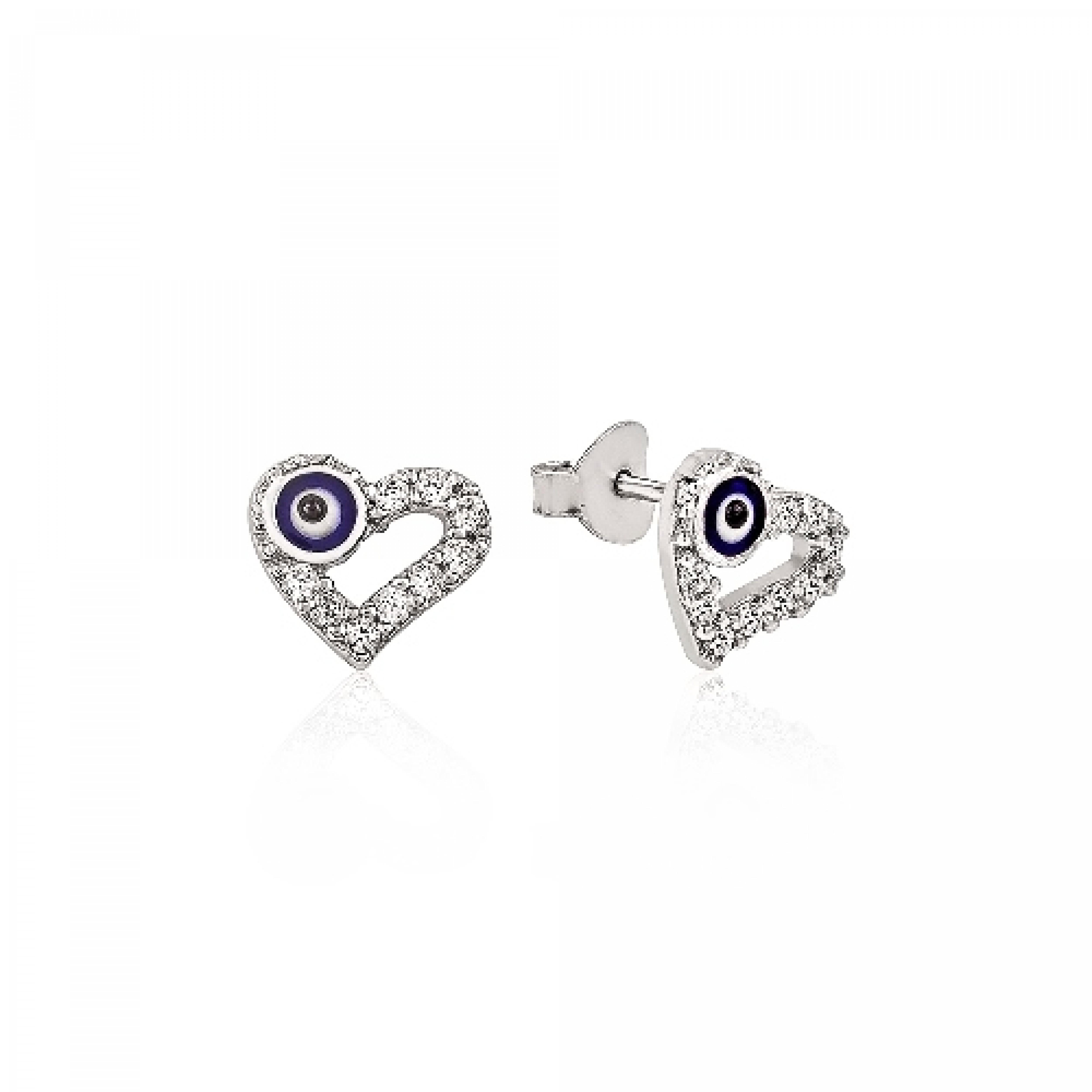 Je 210040 Evil Eye 925 Sterling Silver Cz Earrings