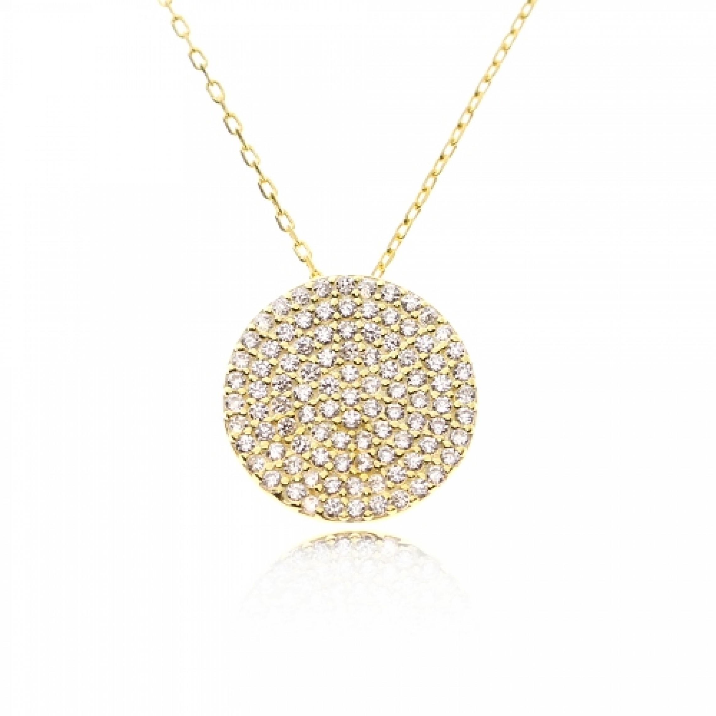 JN-190035 Evil Eye 925 Sterling Silver CZ Necklace