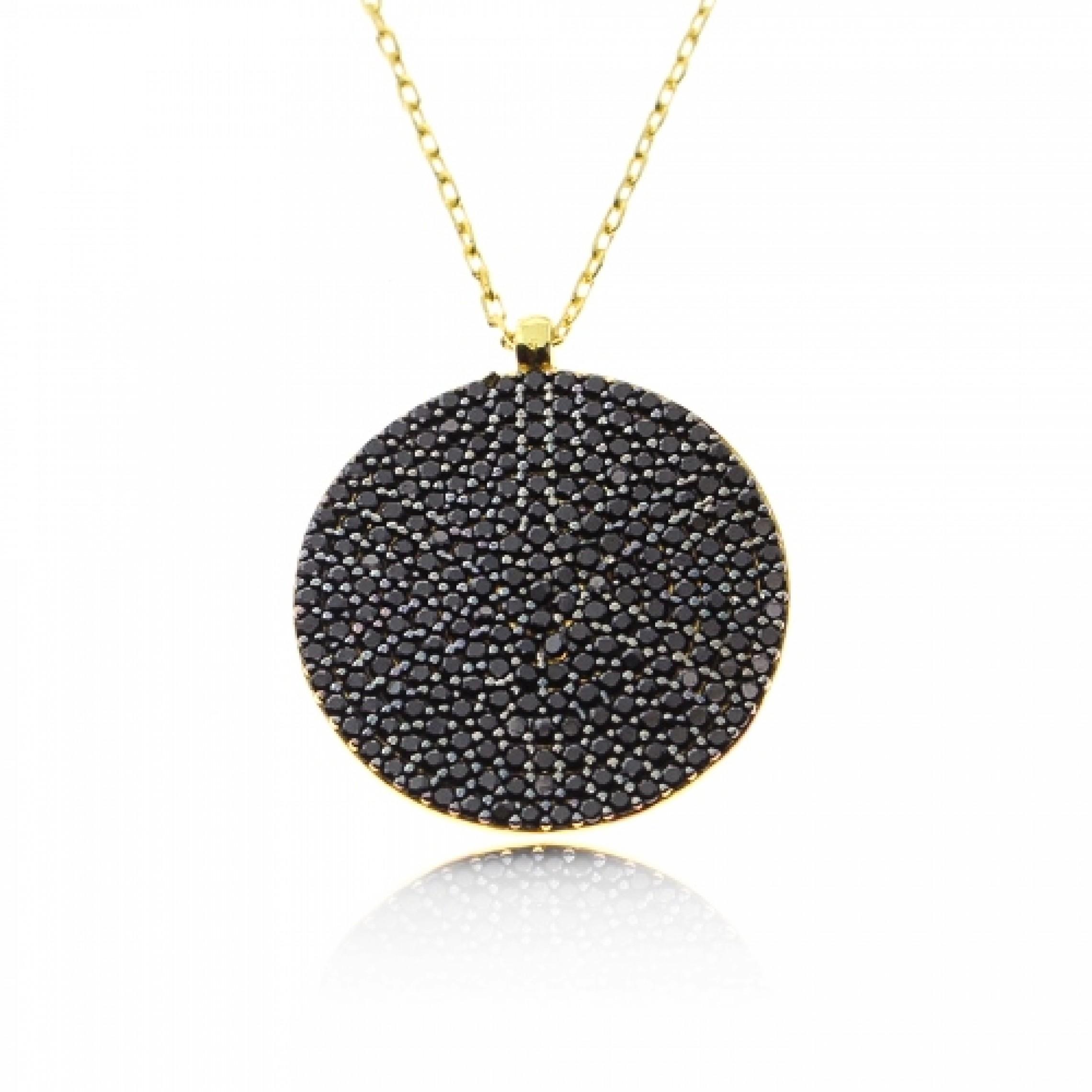 JN-190036 Evil Eye 925 Sterling Silver CZ Necklace