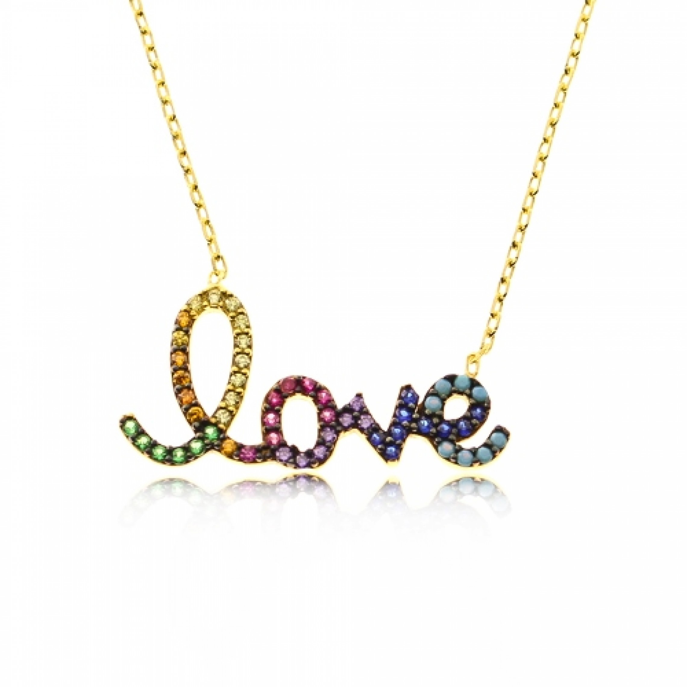 JN-190040 Evil Eye 925 Sterling Silver CZ Necklace Love