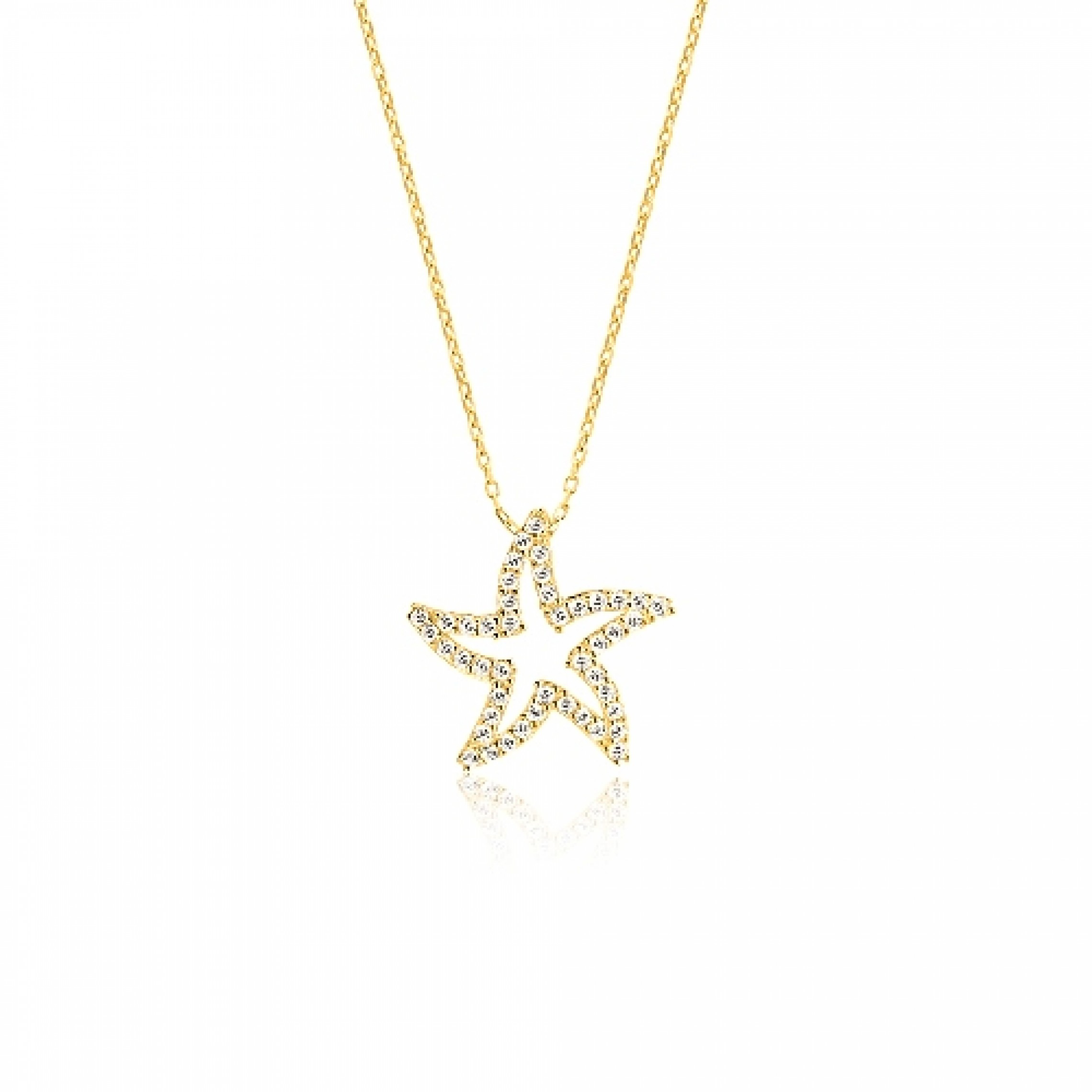 JN-190083 Evil Eye 925 Sterling Silver CZ Necklace Star