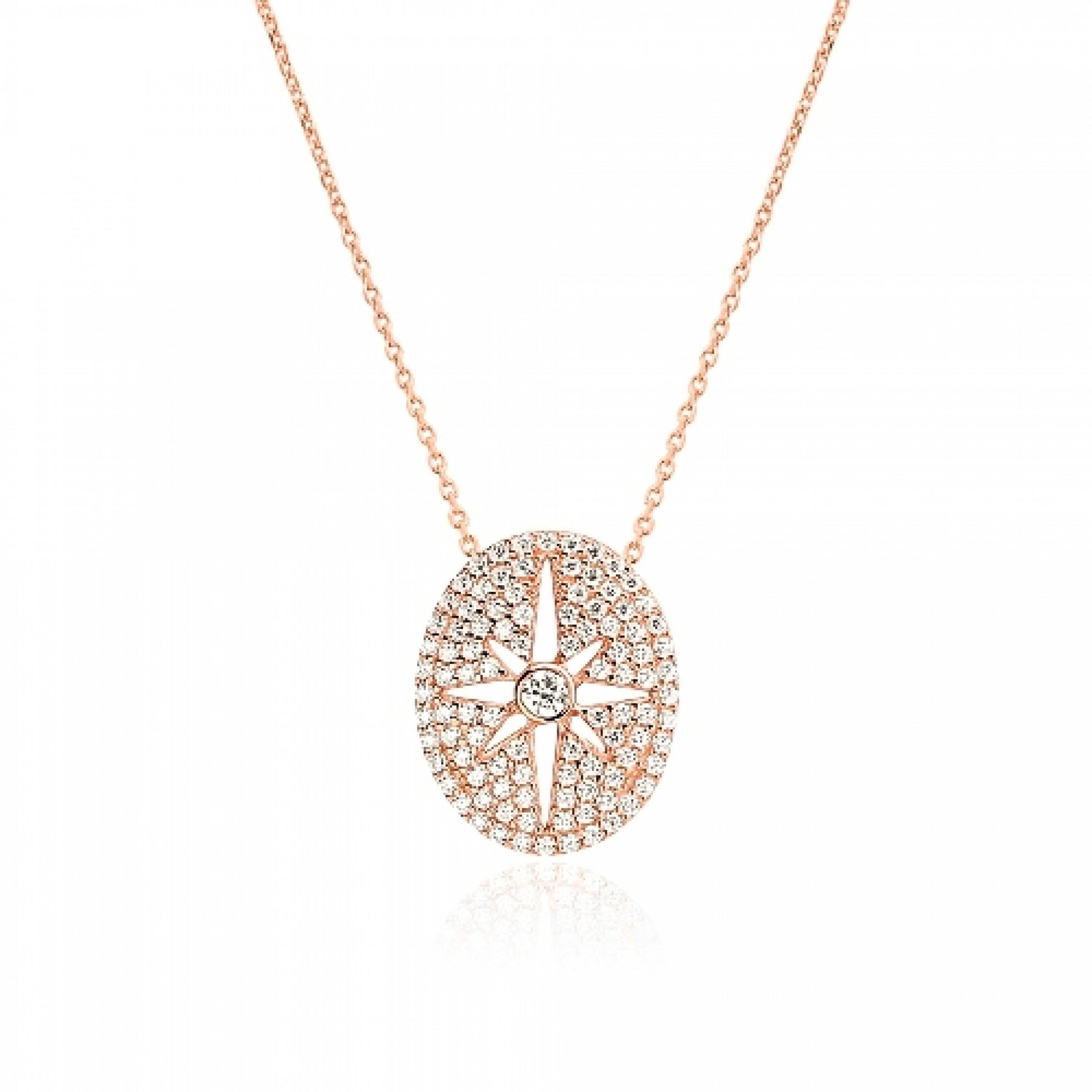 JN-190094 Evil Eye 925 Sterling Silver CZ Necklace