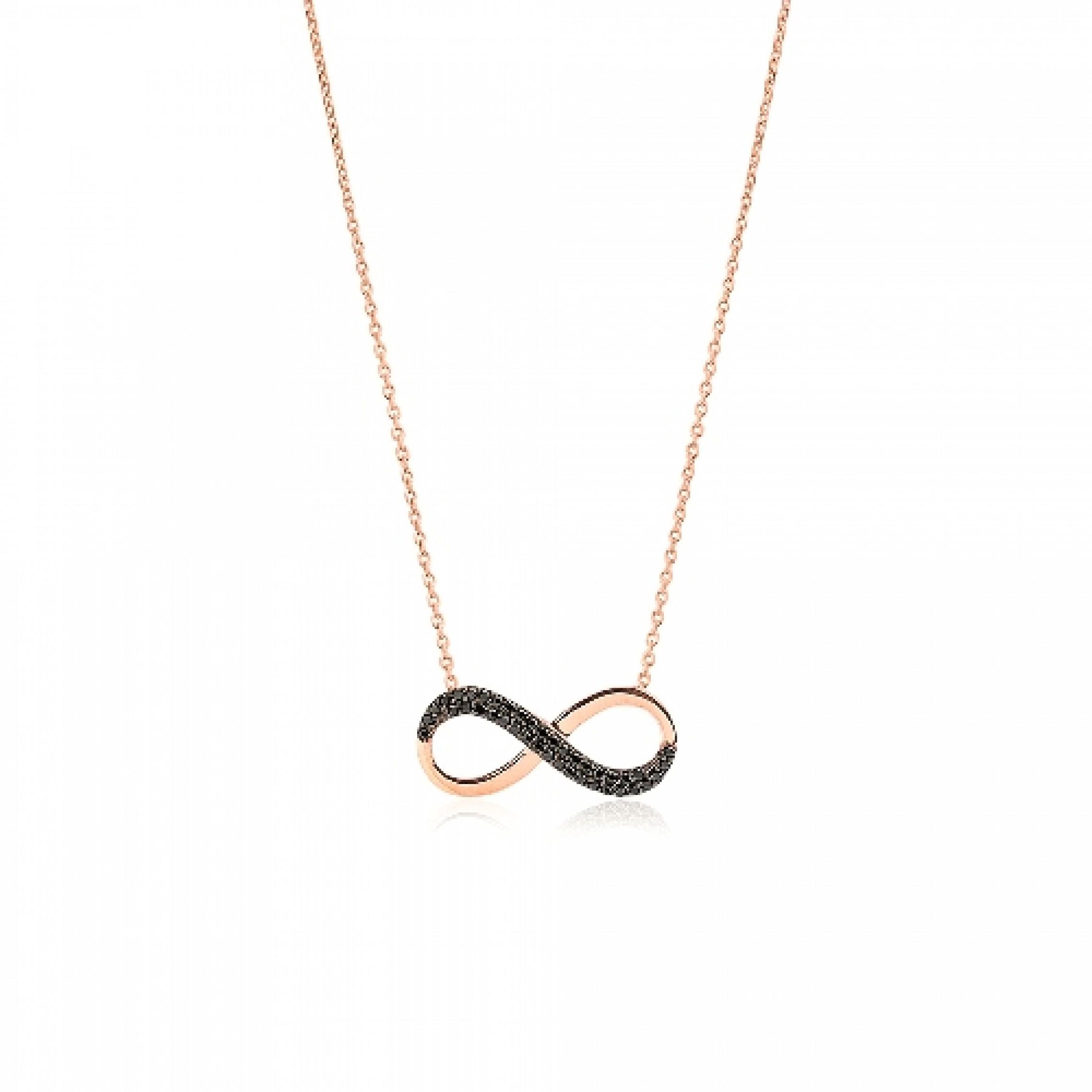 JN-190113 Evil Eye 925 Sterling Silver CZ Necklace Infinity