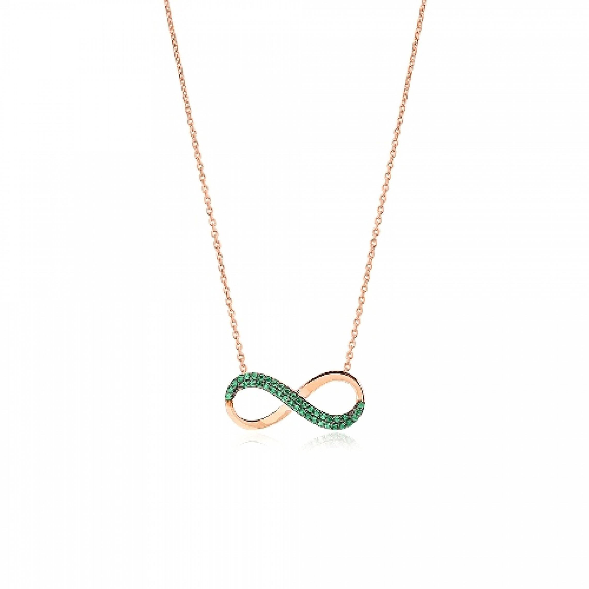 JN-190114 Evil Eye 925 Sterling Silver CZ Necklace Infinity