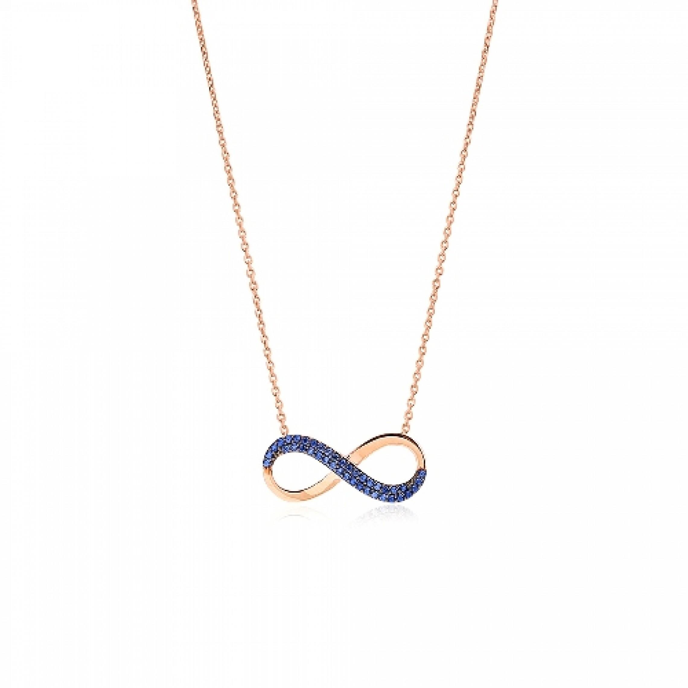 JN-190116 Evil Eye 925 Sterling Silver CZ Necklace Infinity
