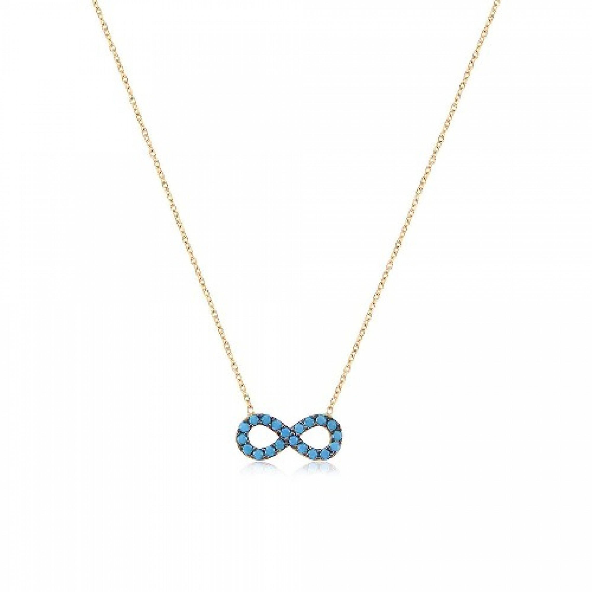 JN-190164 Evil Eye 925 Sterling Silver CZ Necklace Infinity