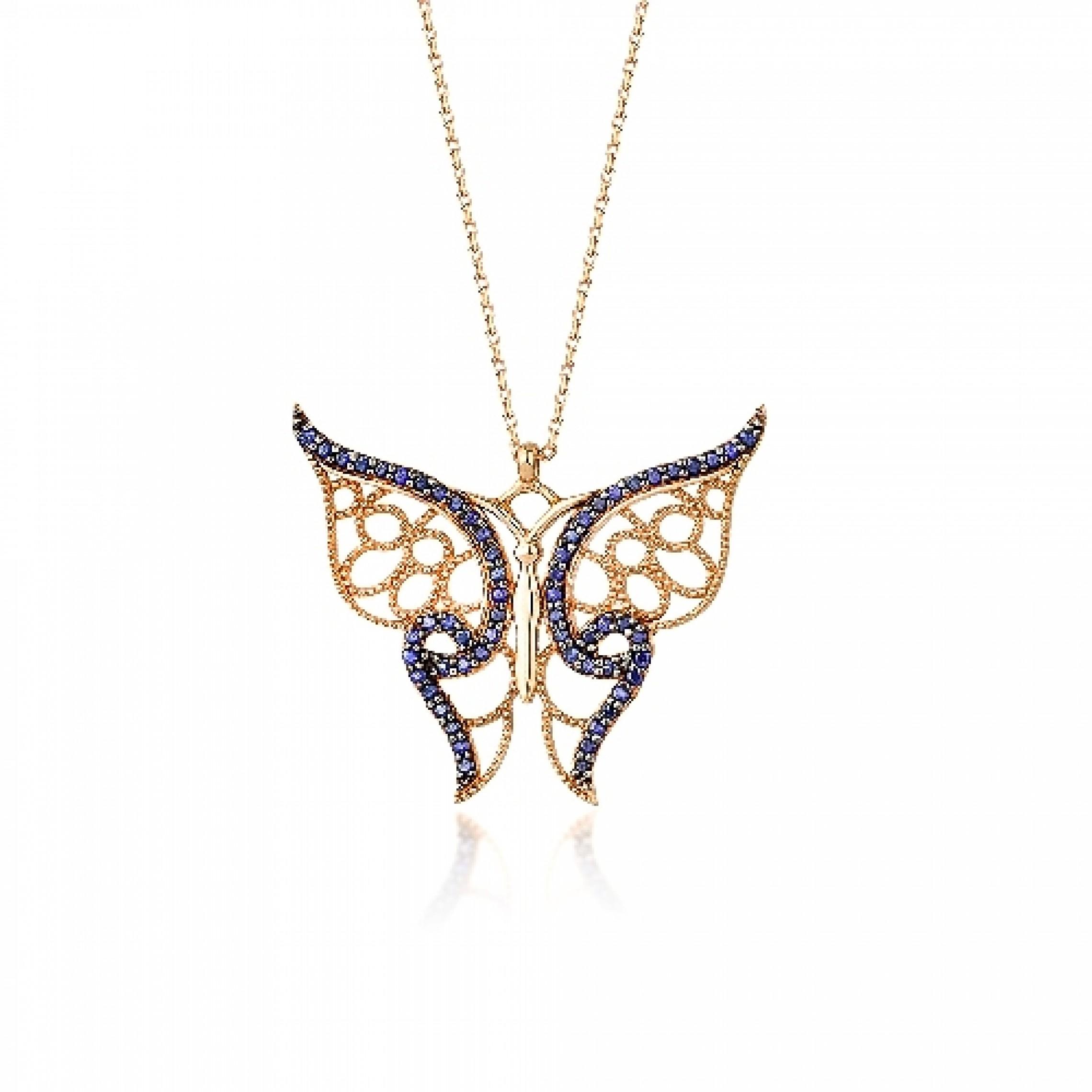 JN-190217 Evil Eye 925 Sterling Silver CZ Necklace Butterfly