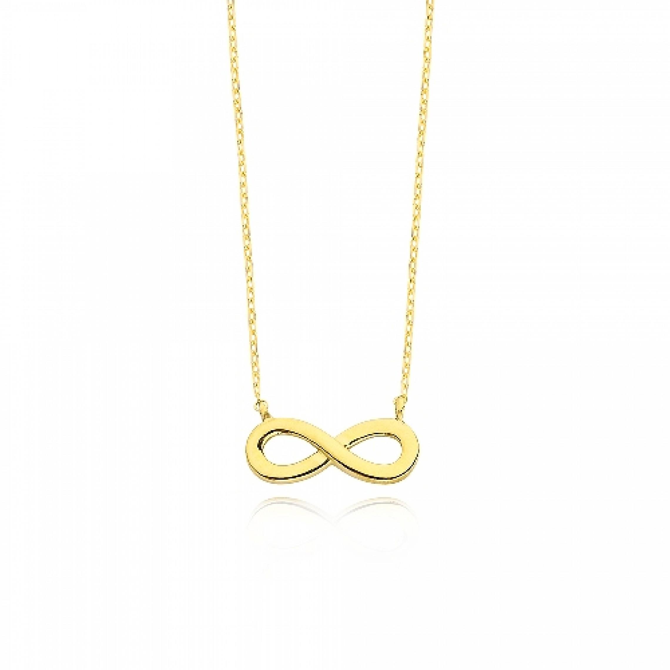 JN-190223 Evil Eye 925 Sterling Silver CZ Necklace Infinity