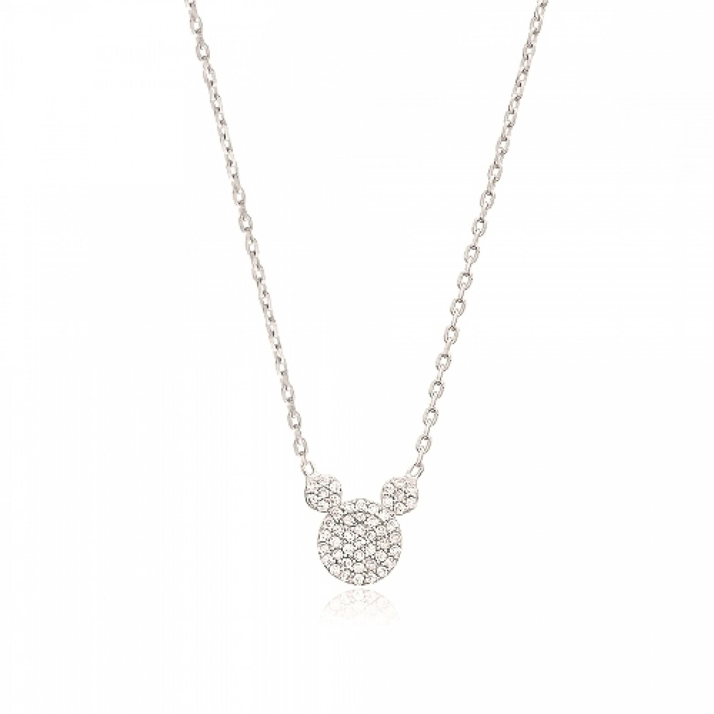 JN-190240 Evil Eye 925 Sterling Silver CZ Necklace
