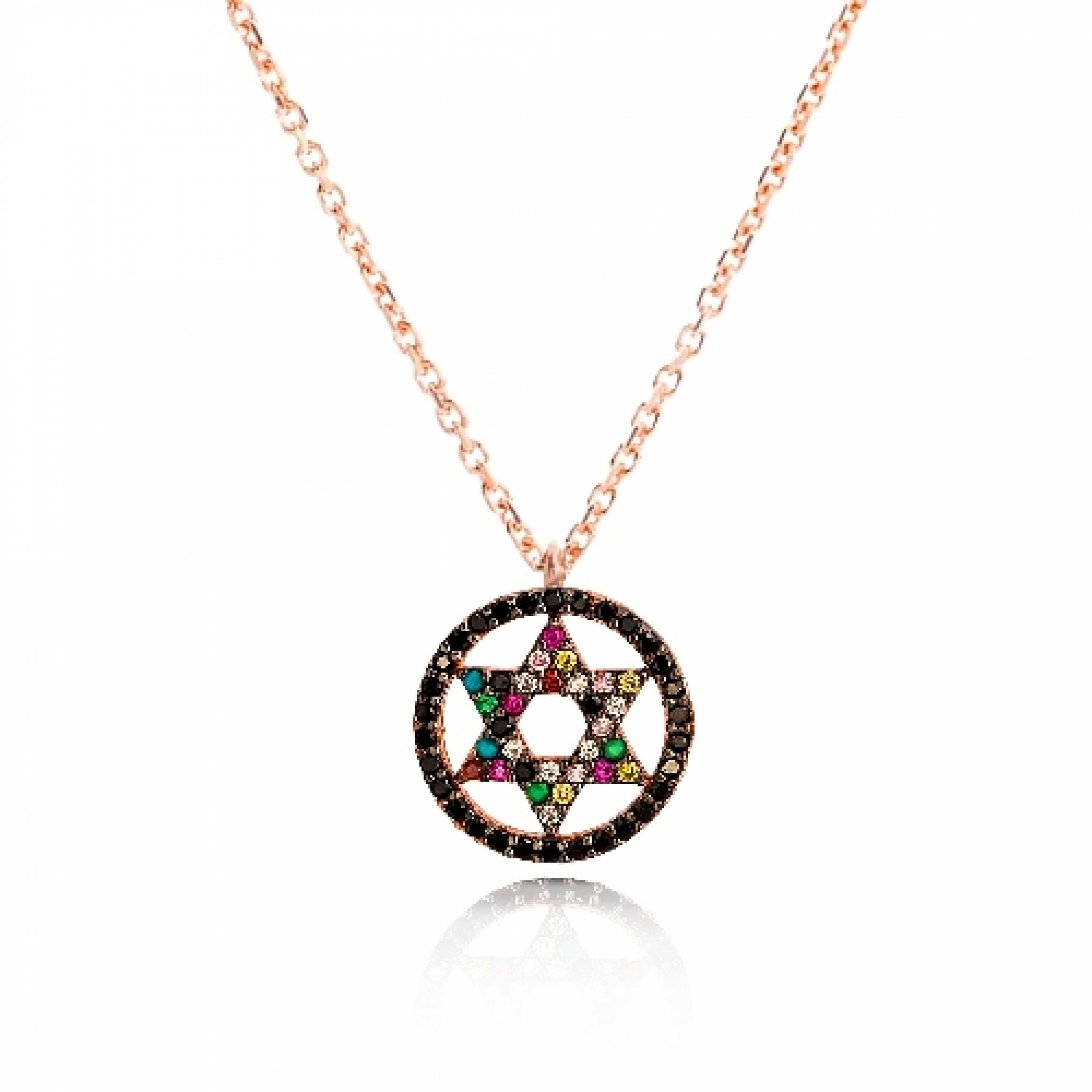 JN-190246 Evil Eye 925 Sterling Silver CZ Necklace Magen