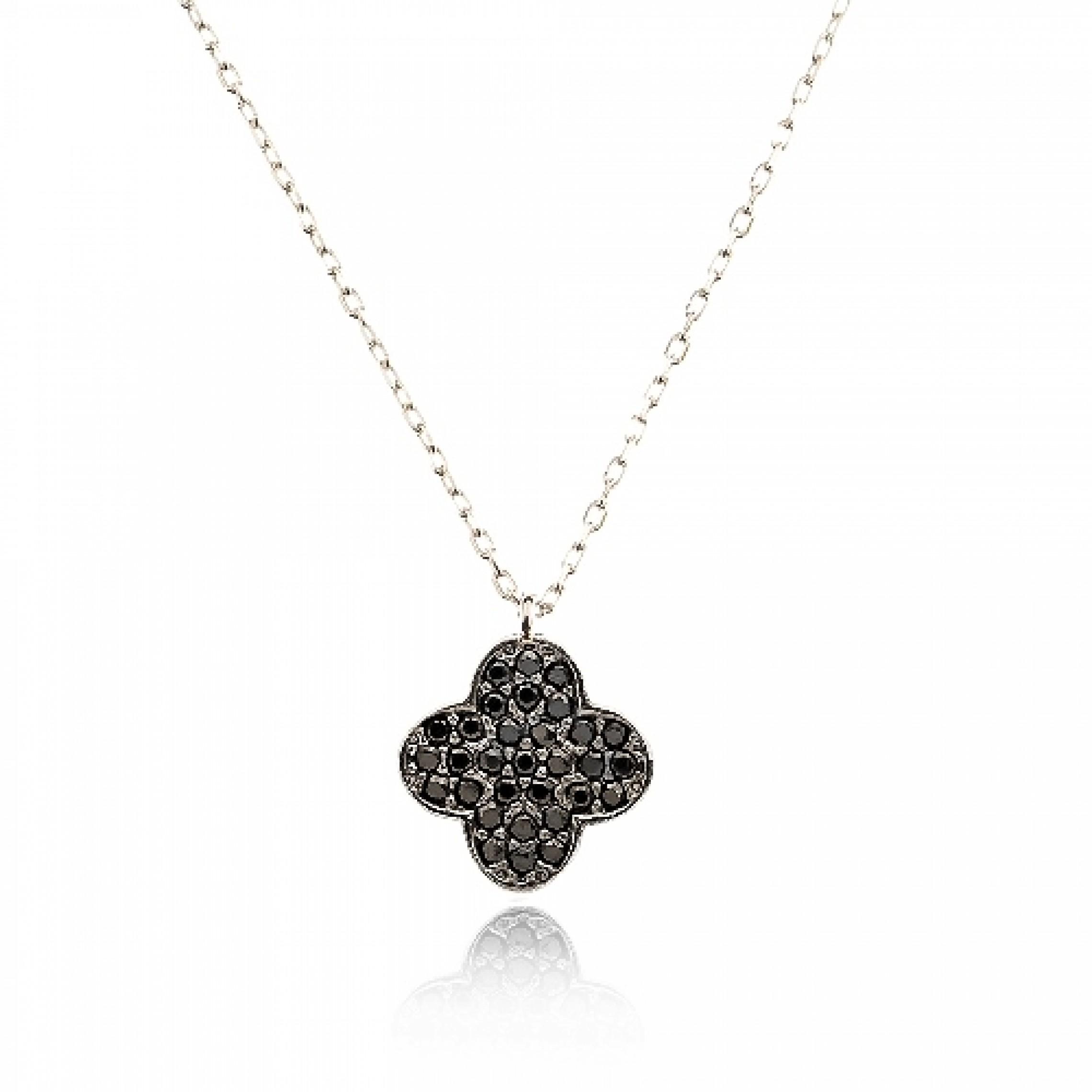 JN-190247 Evil Eye 925 Sterling Silver CZ Necklace
