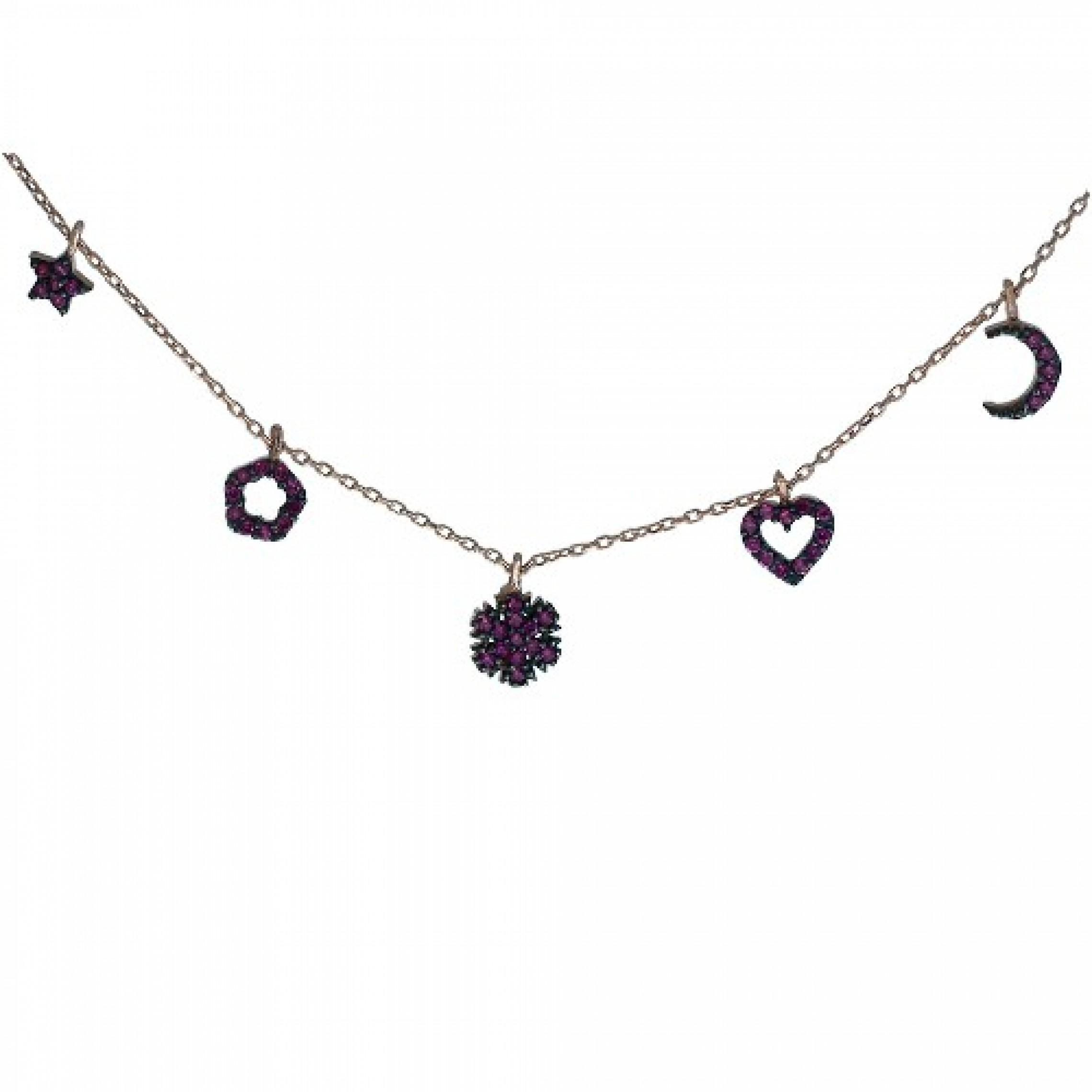 SN-169 Evil Eye 925 Sterling Silver CZ Necklace
