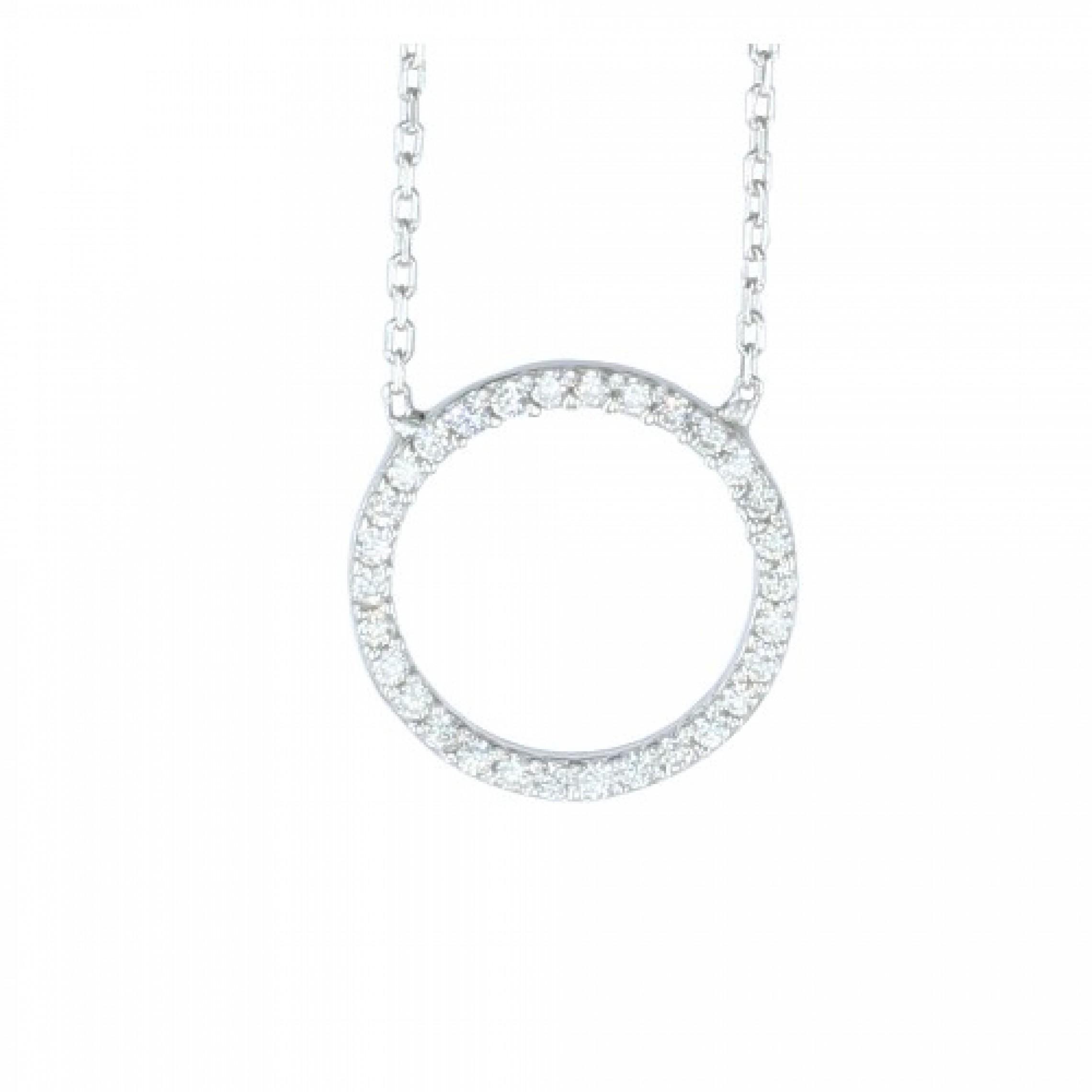 SN-378 Evil Eye 925 Sterling Silver CZ Necklace