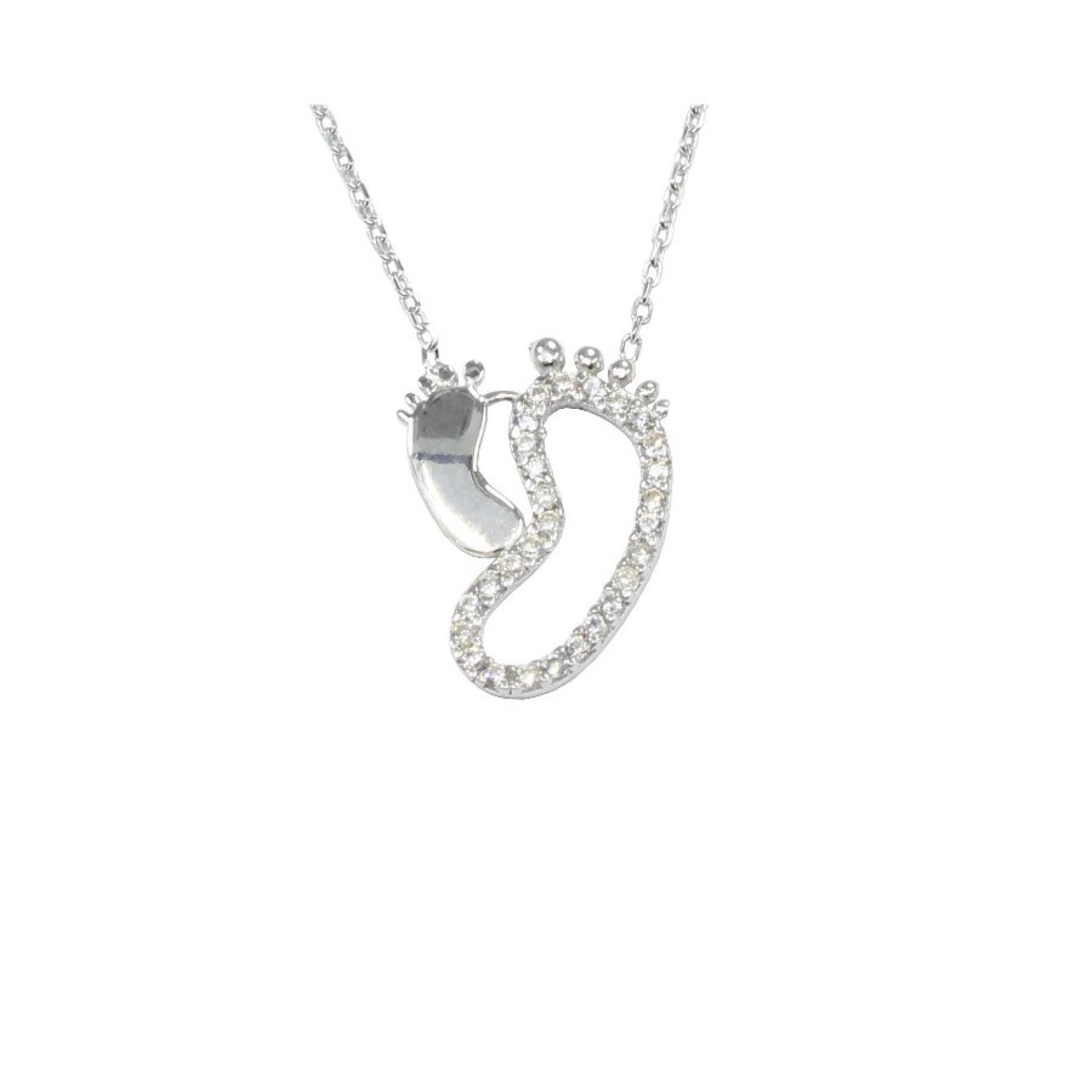 SN-487 Evil Eye 925 Sterling Silver CZ Necklace