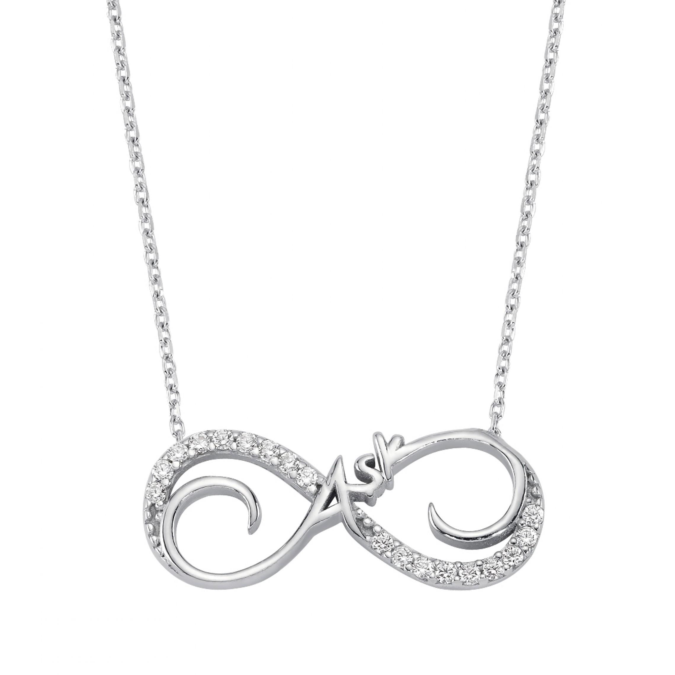 SN-557 Evil Eye 925 Sterling Silver CZ Necklace